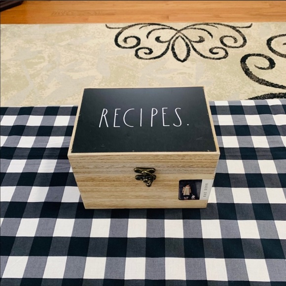 Rae Dunn recipes box nwt